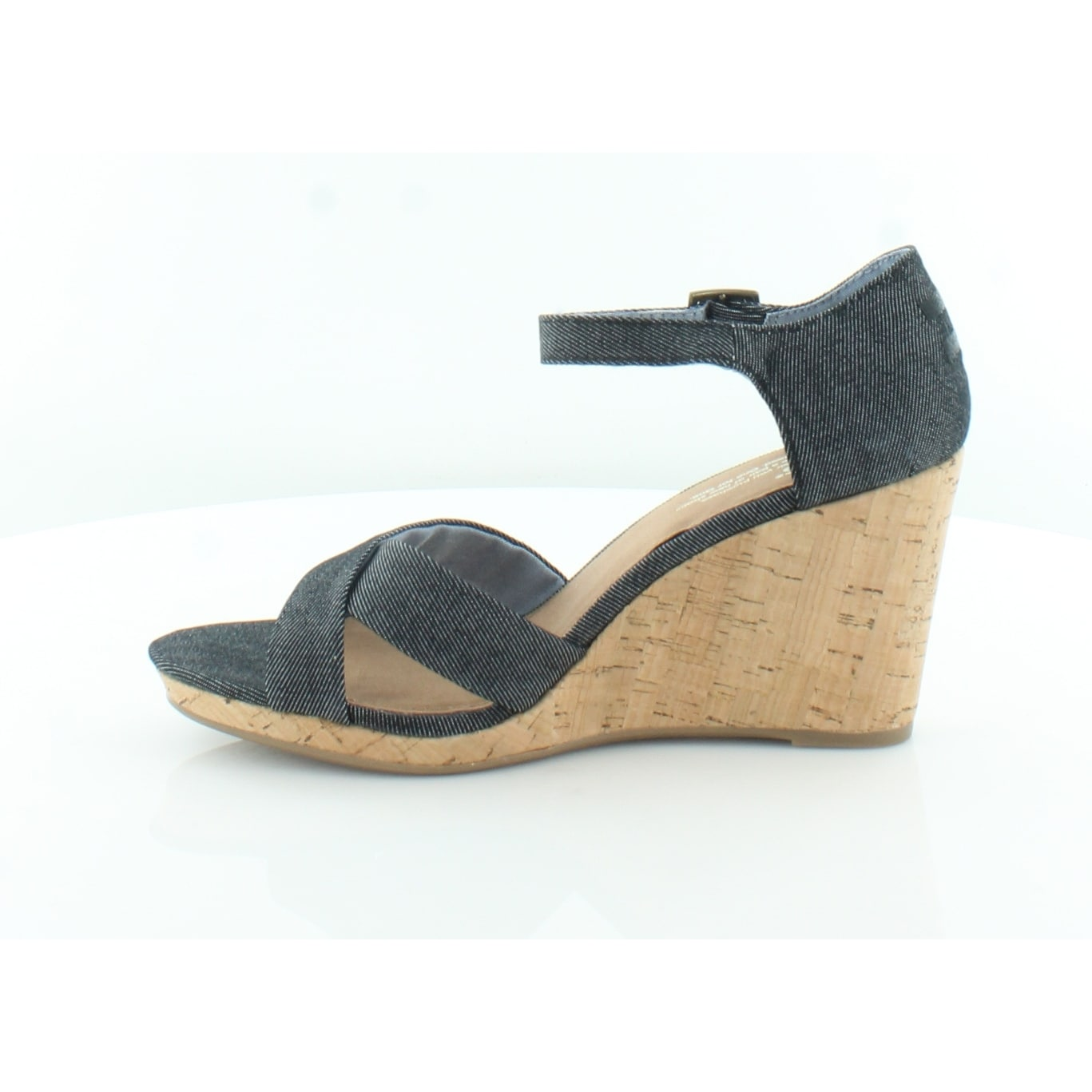 a35712f01e1 Shop TOMS Classic Sienna Women s Heels Black Denim - 9.5 - Free Shipping  Today - Overstock - 27568526