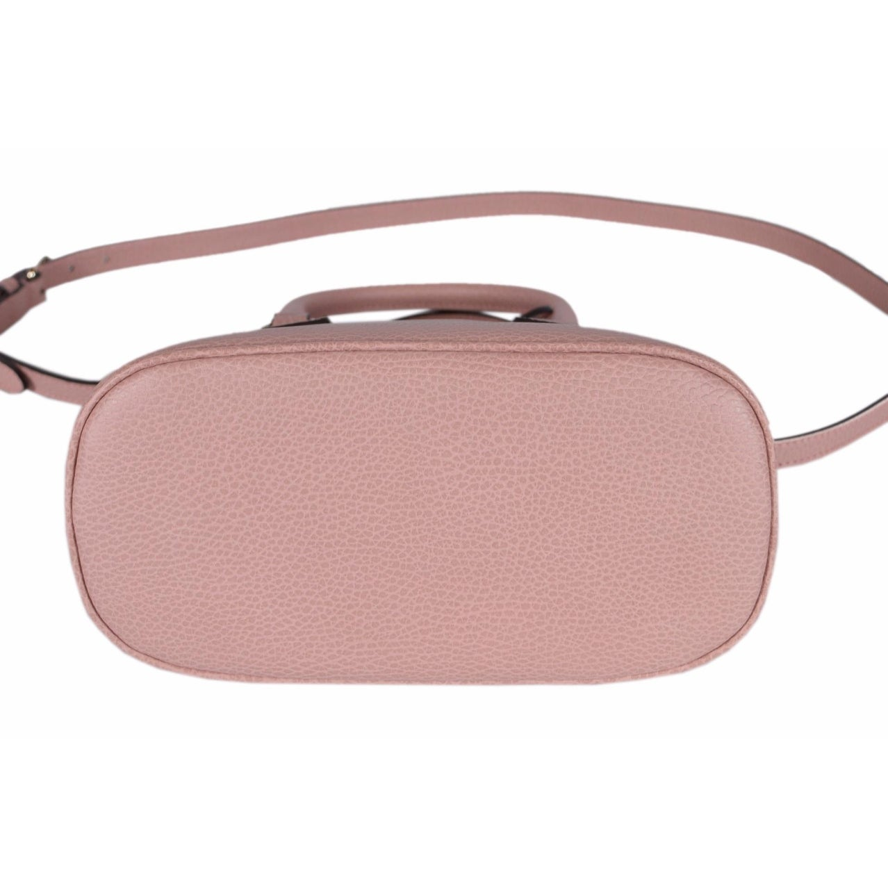 Shop Gucci 449661 Soft Pink Leather 2-Way Convertible GG Charm Small ...
