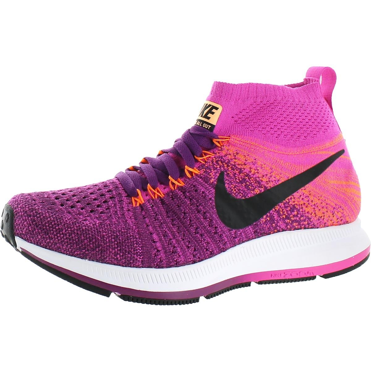 4de2ca4702c7 Shop Nike Girls ZM Pegasus All Out Flyknit Running Shoes Big Kid Lightweight  - Free Shipping Today - Overstock - 21942265