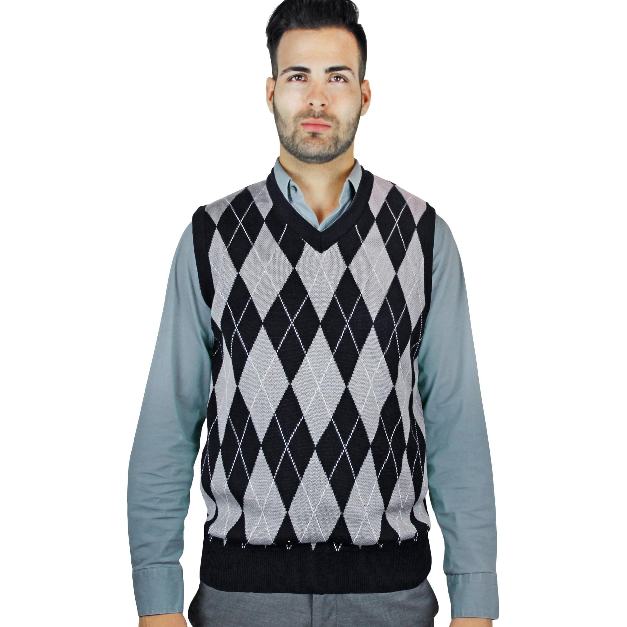582416710 Shop Men s Jacquard Argyle Sweater Vest (SV-245) - Free Shipping On ...