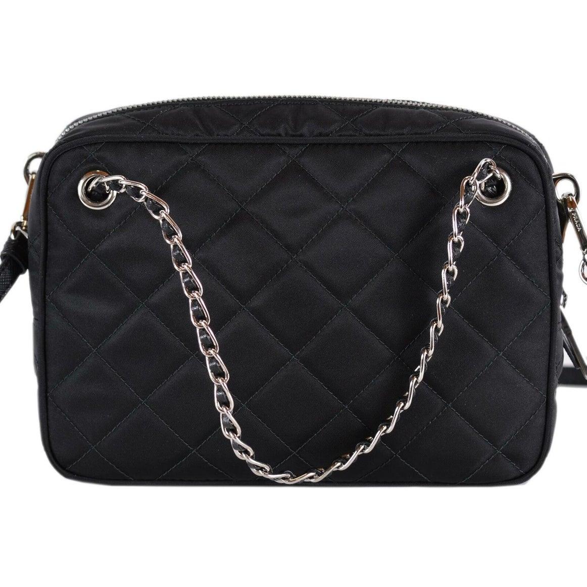 e80502a2d8b6 Shop Prada 1BH910 Black Quilted Tessuto Nylon Bandoliera Crossbody Purse  Handbag - On Sale - Free Shipping Today - Overstock - 27745488