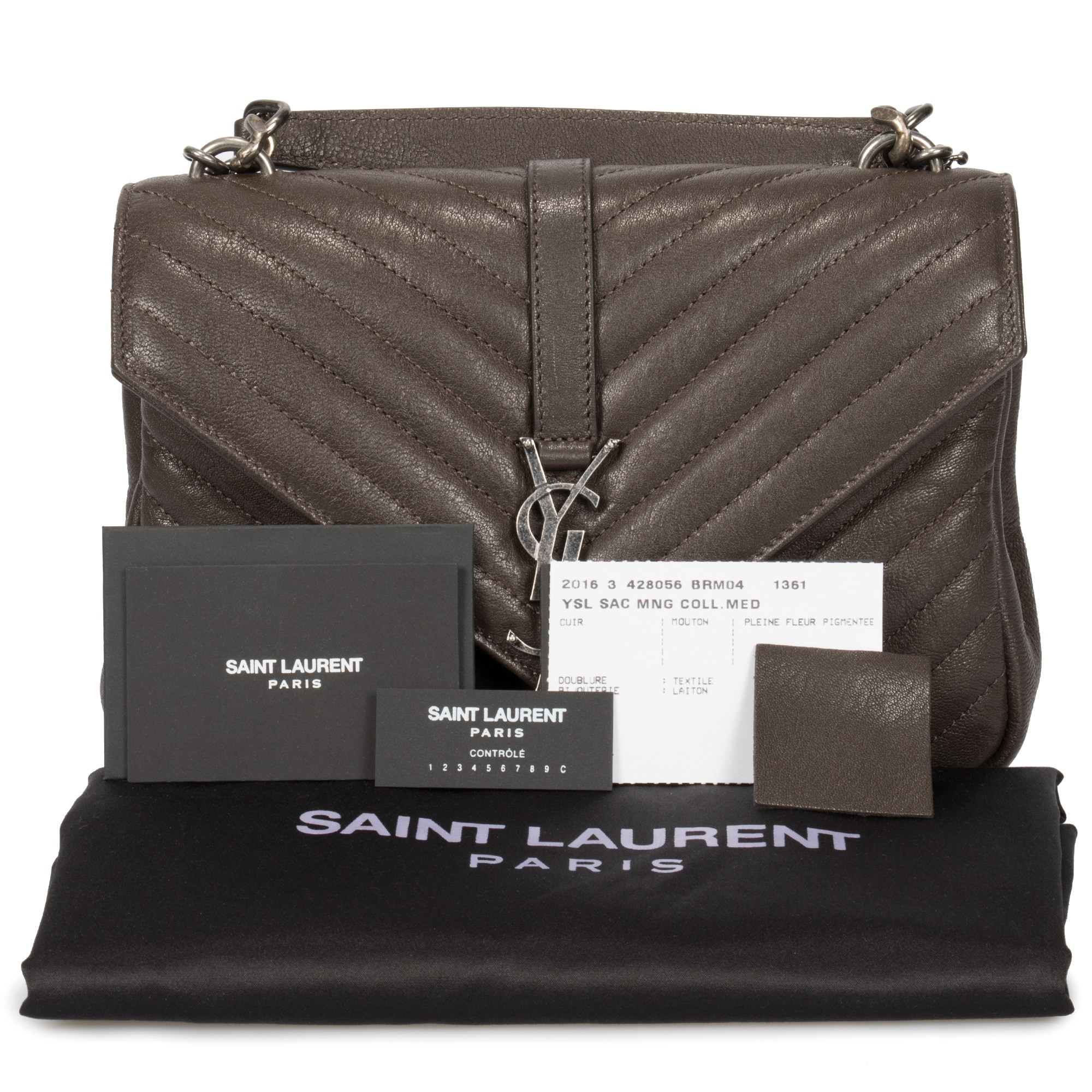 7a5d453adc0 Shop Saint Laurent Classic Medium College Bag In Brown Matelasse Leather - Free  Shipping Today - Overstock - 23085778