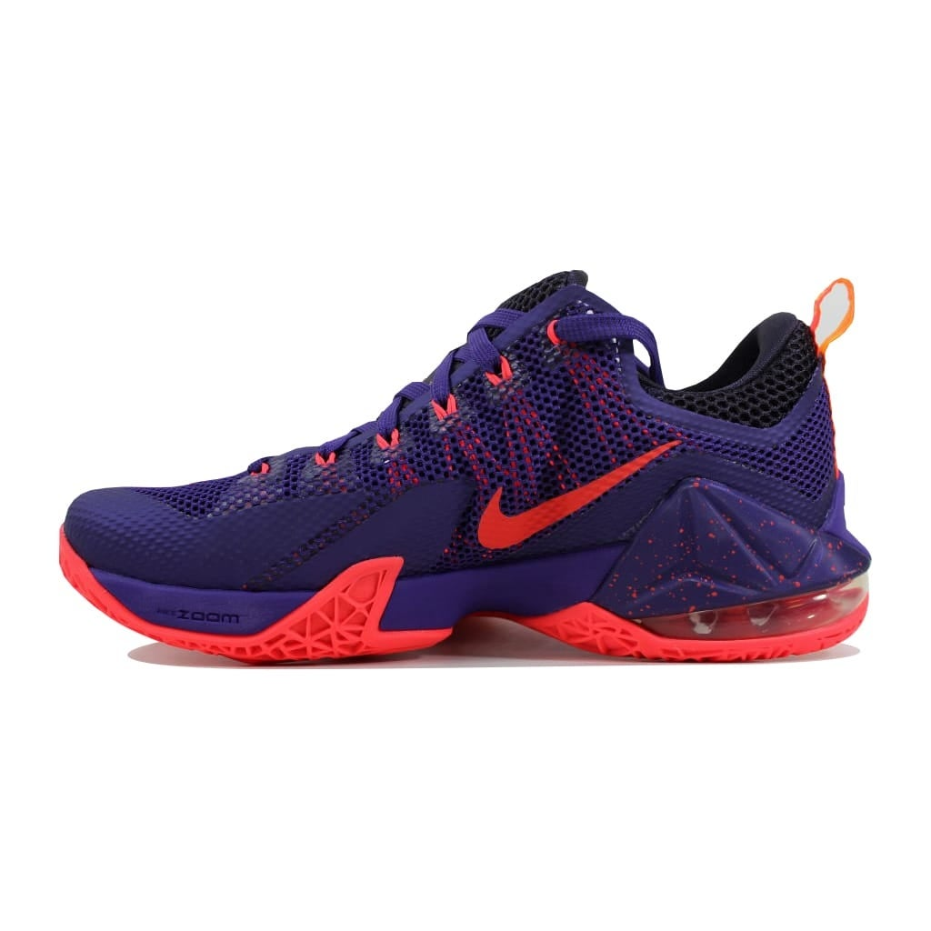 buy online e9d78 9d4a0 Shop Nike Men s Lebron XII 12 Low Court Purple Bright Crimson-Cave Purple  724557-565 - Free Shipping Today - Overstock - 23436716
