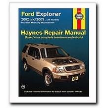ford explorer mercury mountaineer haynes repair manual 20 free rh overstock com 2000 QX4 2000 Mercury Car