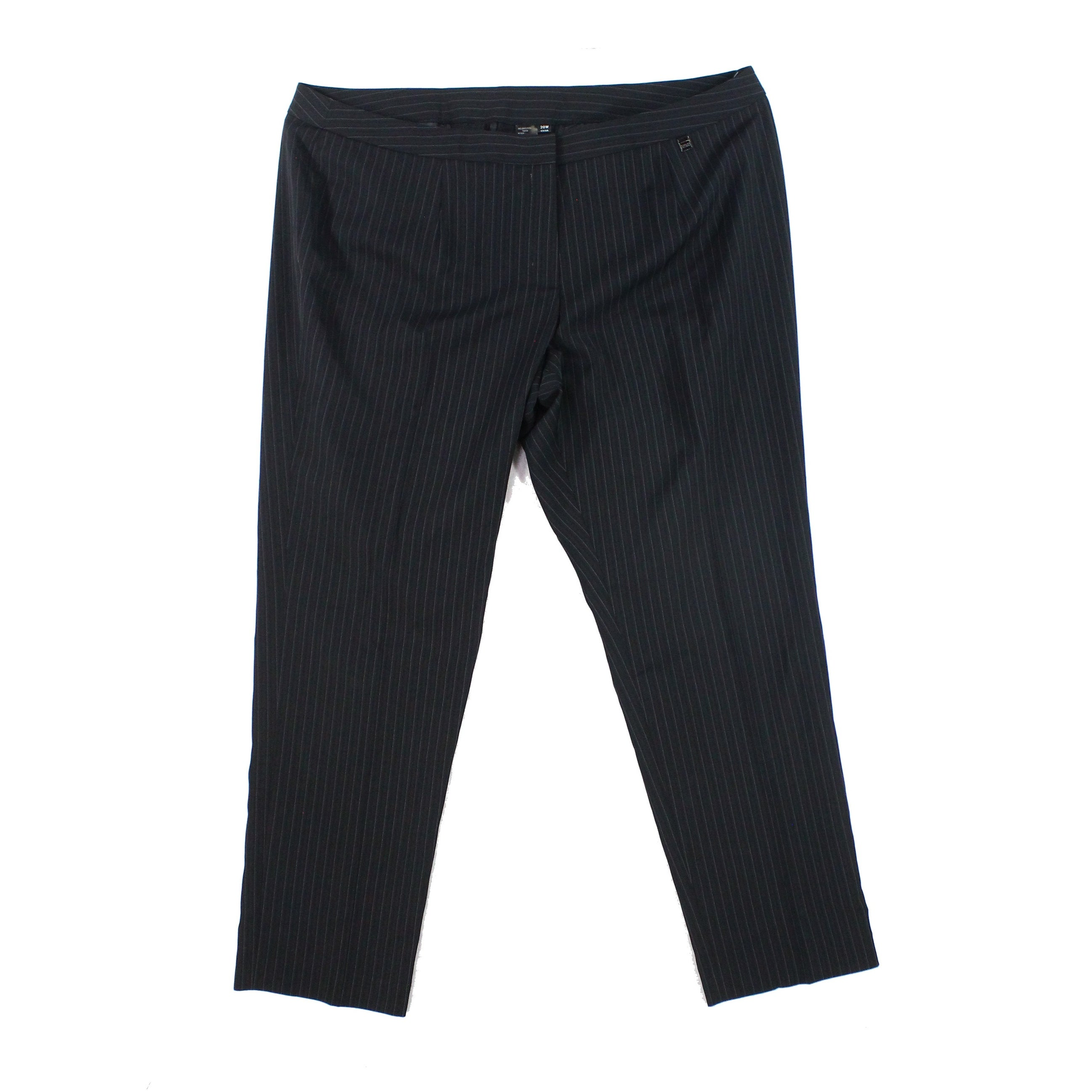 ef65ef3be9d Shop Tahari By ASL NEW Black Womens Size 20W Plus Pinstripe Dress Pants -  Free Shipping On Orders Over  45 - Overstock.com - 21804932
