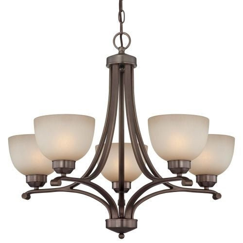 "Minka Lavery 1425 5 Light 23"" Height 1 Tier Chandelier from the Paradox Collection"
