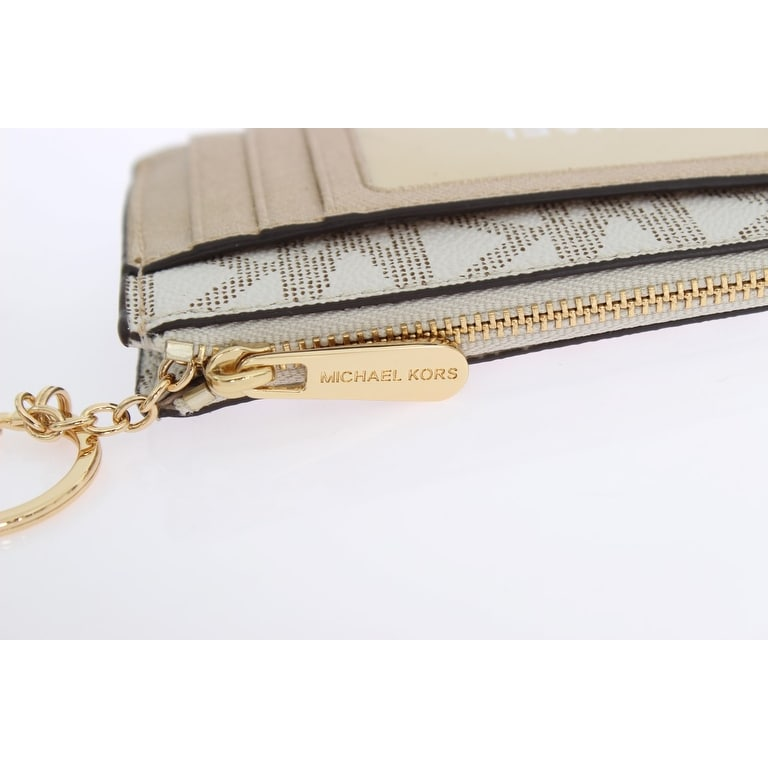 9fdec2d28f7a Shop Michael Kors White ILLUSTRATIONS Key Ring Pouch Wallet - One Size -  Free Shipping Today - Overstock - 21137584