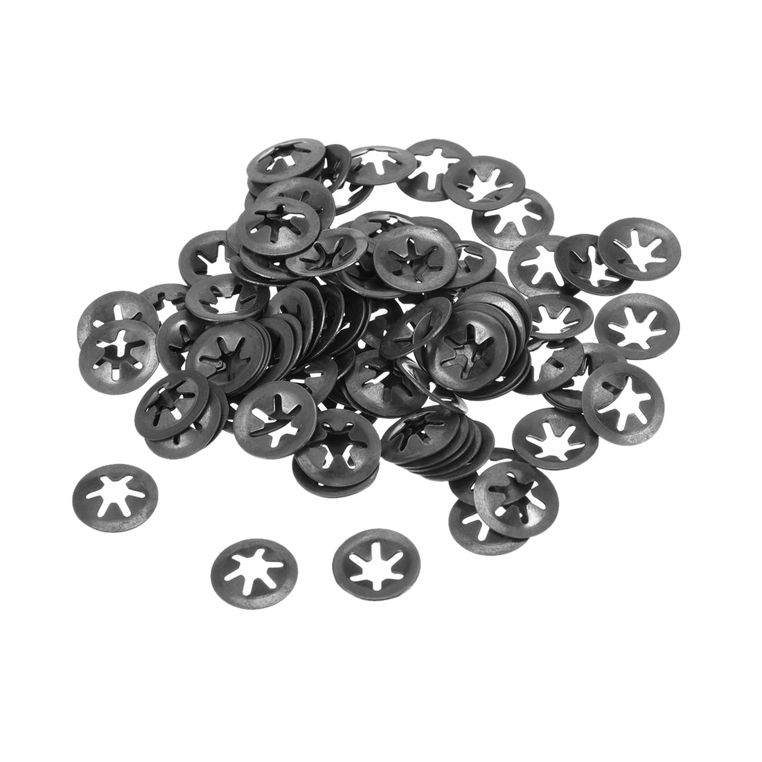 Stainless Steel 100pcs M4 Internal Tooth Starlock Washer 3.3mm I.D 12mm O.D