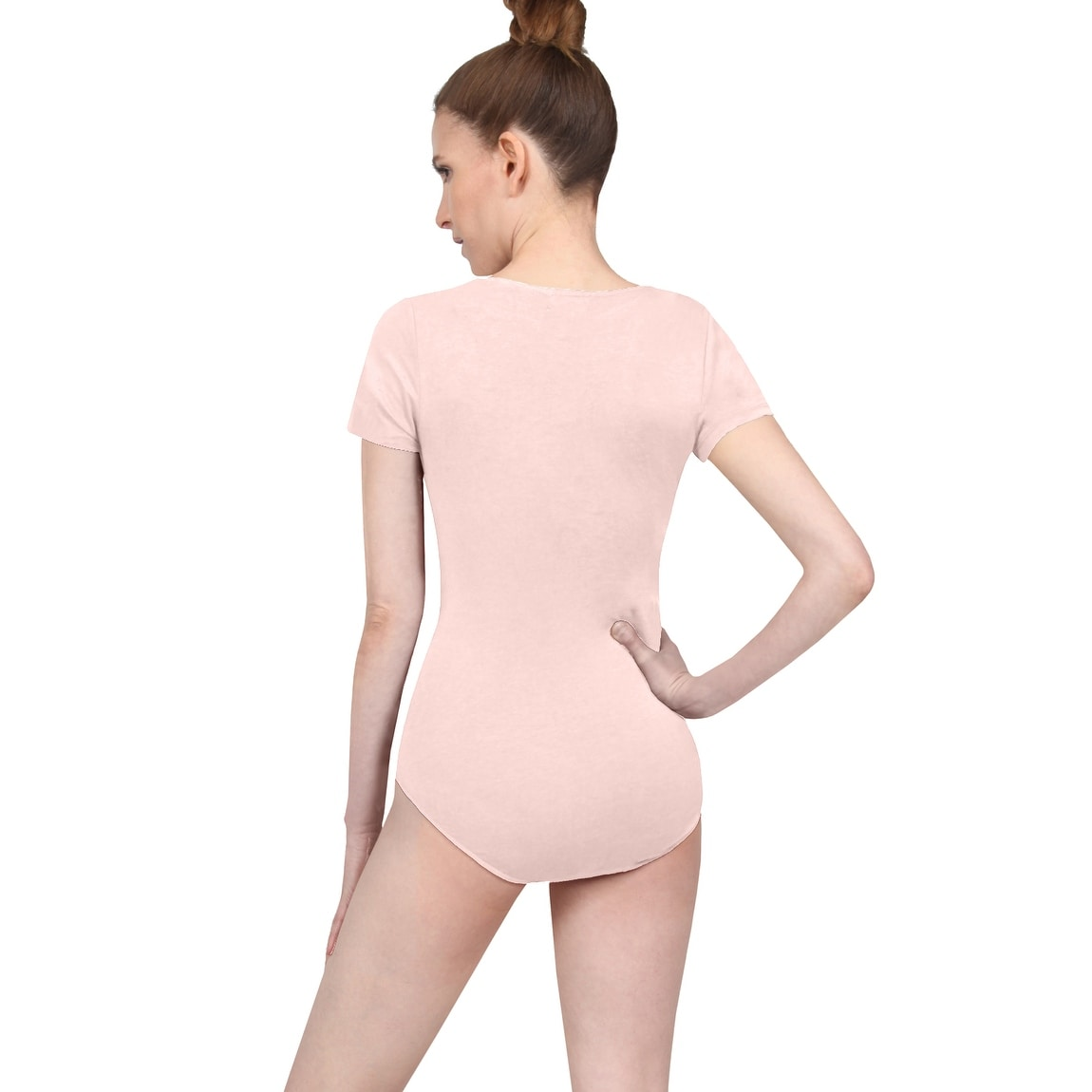 940e1ef4 Shop NE PEOPLE Womens Sexy Fitted Stretchy Short Sleeve Lace Up Strap Snap  Button Bodysuit - Free Shipping On Orders Over $45 - Overstock - 21906167