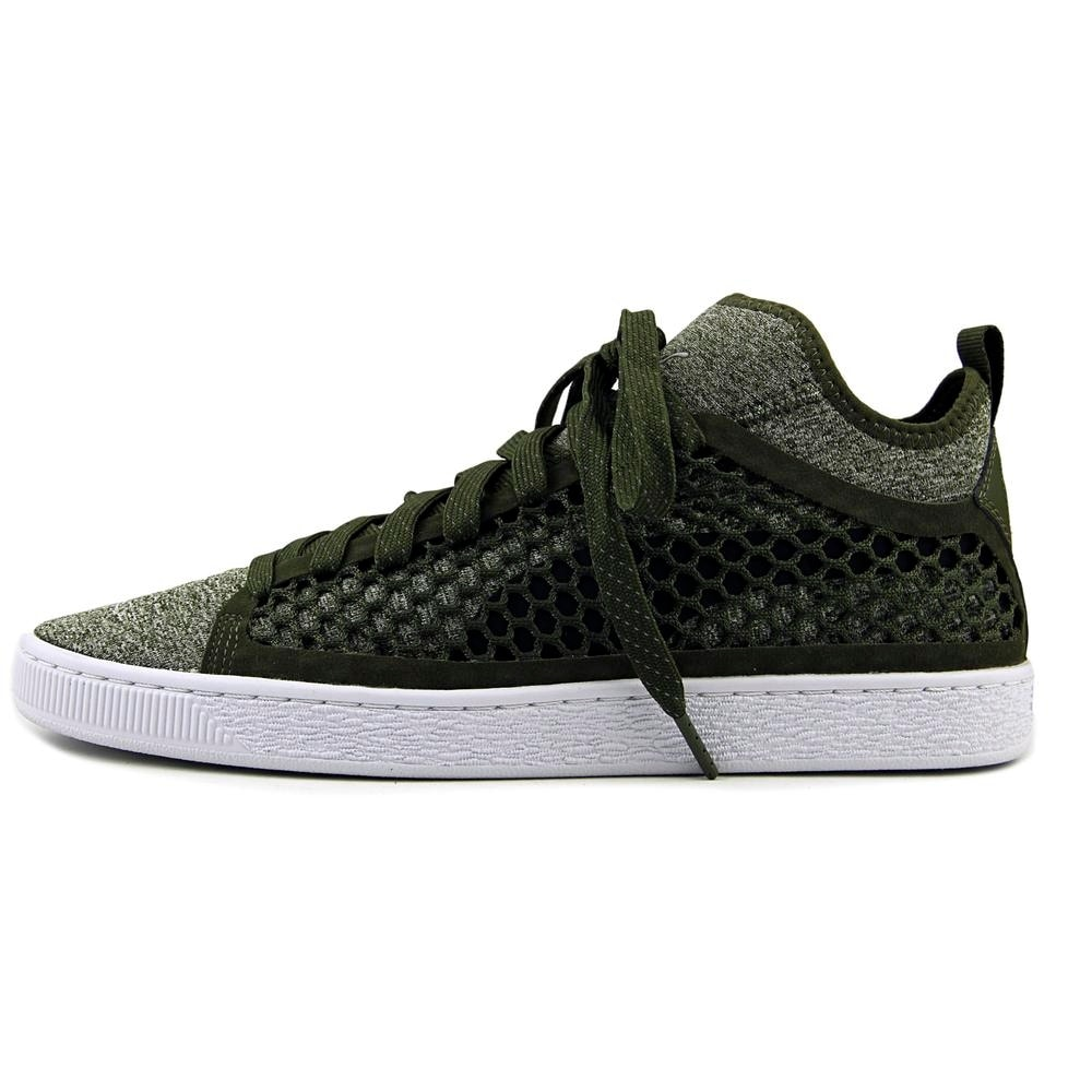 Shop Puma Basket Classic Netfit Men Round Toe Canvas Green Basketball Shoe  - Free Shipping Today - Overstock - 19825896 7277dfee7
