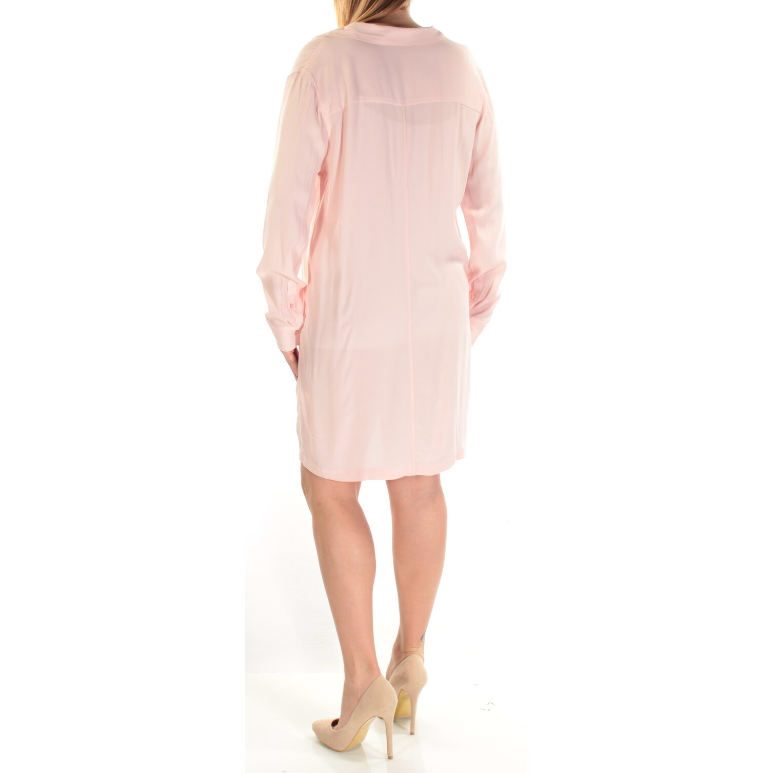 f49efd3ea STATE Womens Pink Lace Up Cuffed Collared Above The Knee Shift Wear To Work  Dress Size: L - On Sale - Free Shipping On Orders Over $45 - Overstock - ...