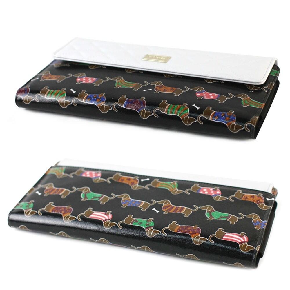 JAVOedge Vintage Quilted Dachshund Apple Wireless Keyboard Case, Logitech  K810, K811 (Black)