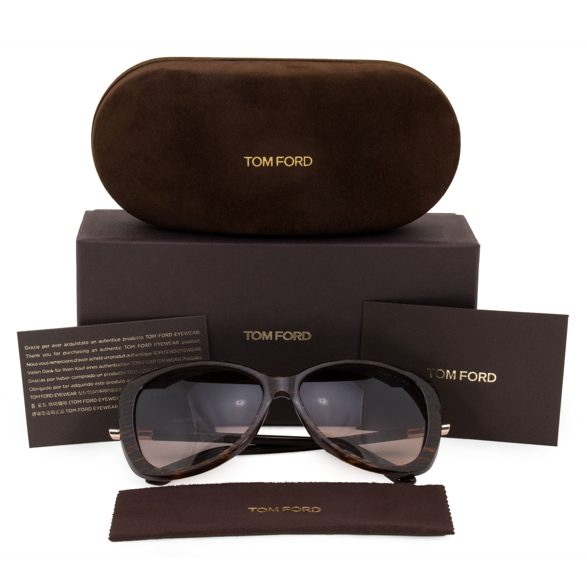 8d4a8a5cefcf Shop Tom Ford Linda Butterfly Sunglasses FT0324 50F 59 - Free Shipping  Today - Overstock - 23138955