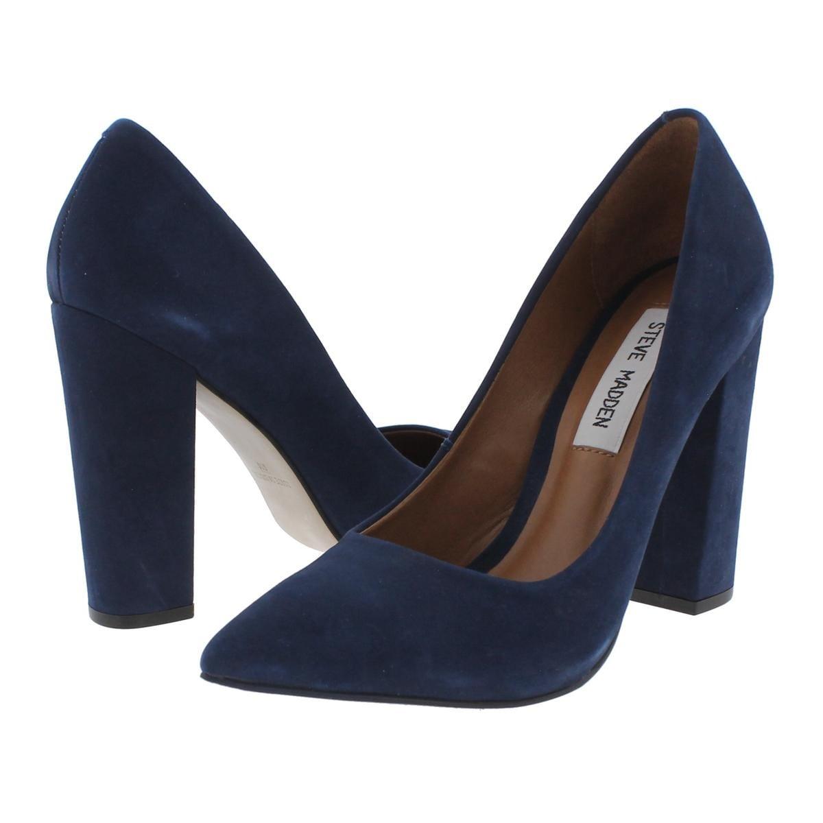 739107cf0a0 Shop Steve Madden Womens Primpy Dress Pumps Nubuck Block Heel - Free  Shipping Today - Overstock - 17430124