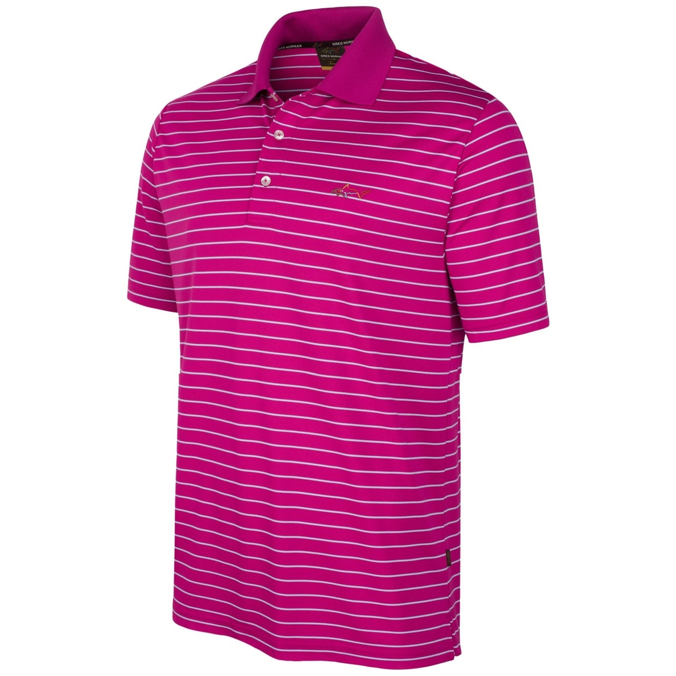 Shop Greg Norman New Pink White Mens Size Lt Polo Rugby Striped