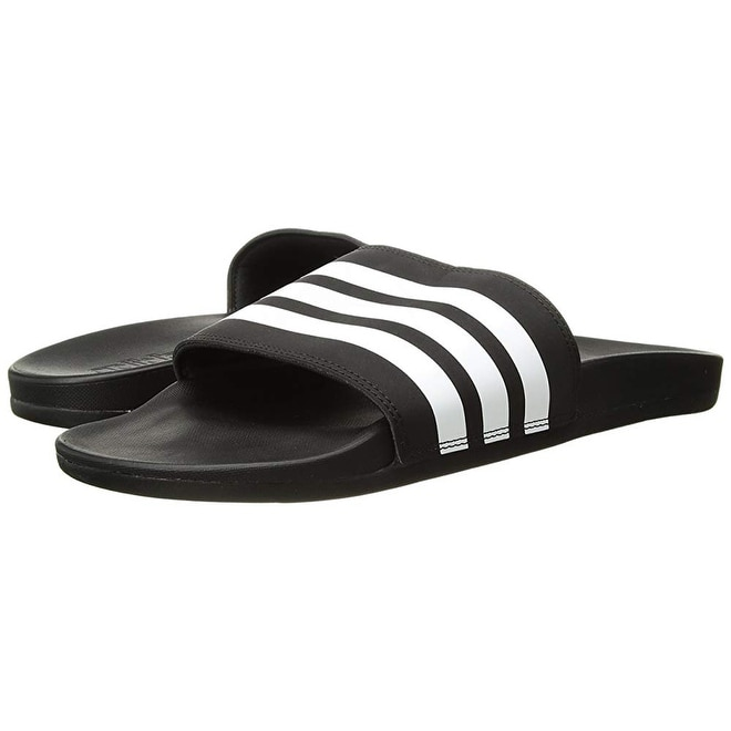 9e43cb86a Shop Adidas Men s Adilette Comfort Slide Sandal White Black 1