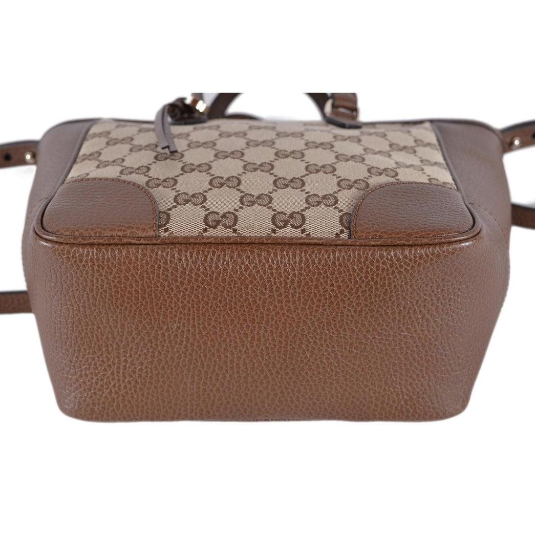 7b222f62e9efcc Shop Gucci Women's 449241 Beige Brown Small Bree GG Guccissima Crossbody Bag  - Free Shipping Today - Overstock - 24336649