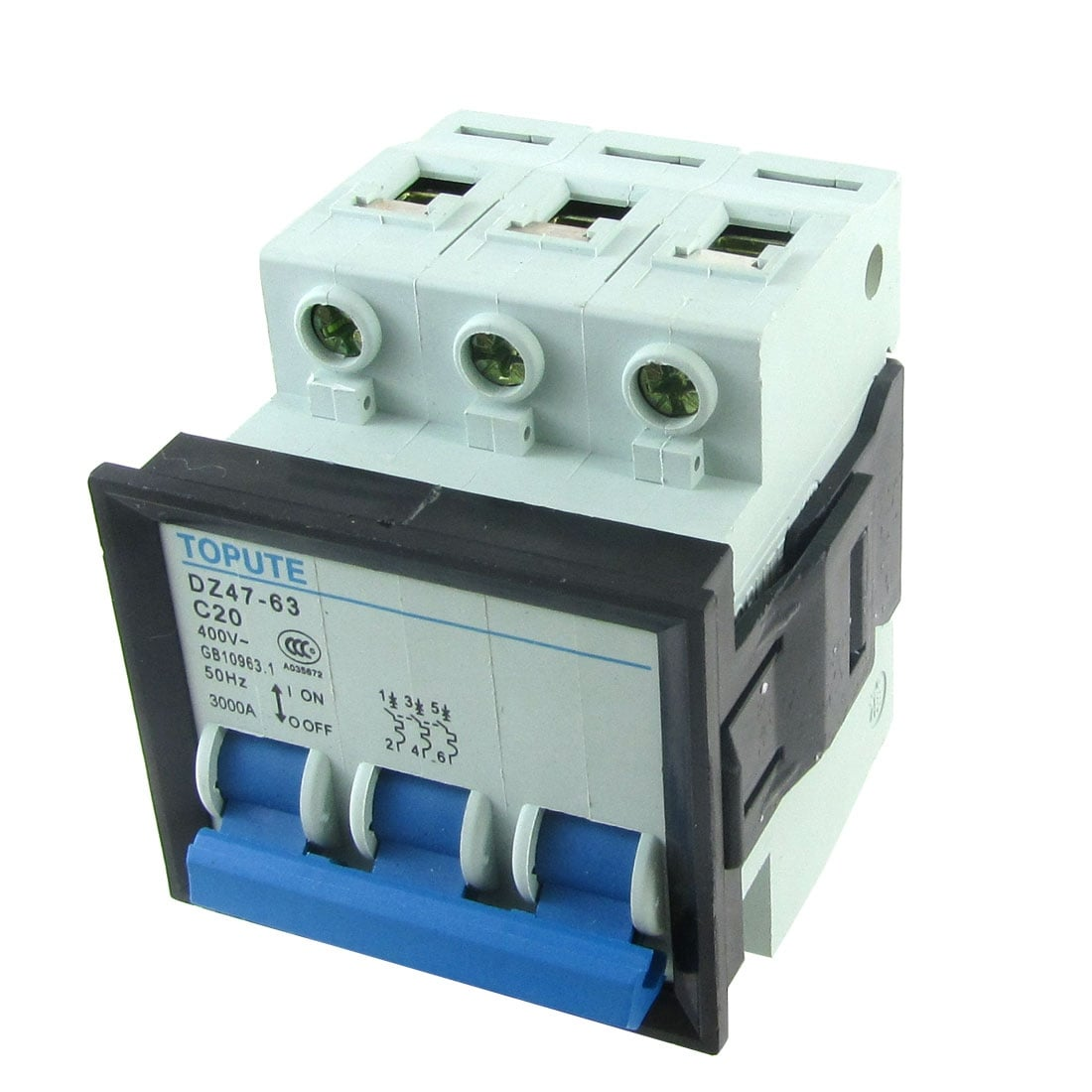 Shop Unique Bargains 20a Ac 400v 3 Poles 3p Mcb Circuit Breaker Dz47 House China High Quality 63 C20 Free Shipping On Orders Over 45 18389126