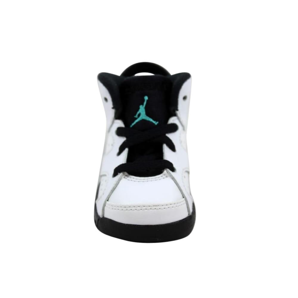 37f4120e60 Shop Nike Air Jordan VI 6 Retro BT White/White-Hyper Jade-Black 384667-122  Toddler - Free Shipping On Orders Over $45 - Overstock - 27877006