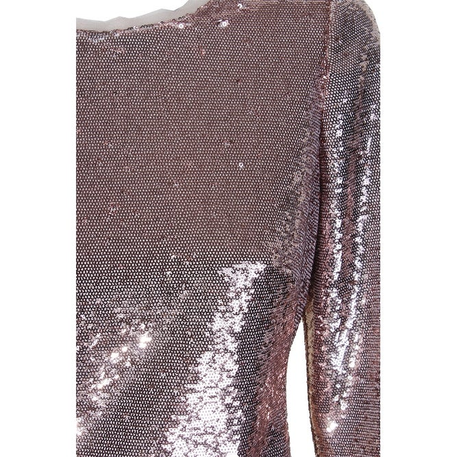 283cbc4e Shop Calvin Klein Rose Gold Sequin Long-Sleeve Sequined Knee Length Sheath  Dress 14 - Free Shipping On Orders Over $45 - Overstock - 24166237