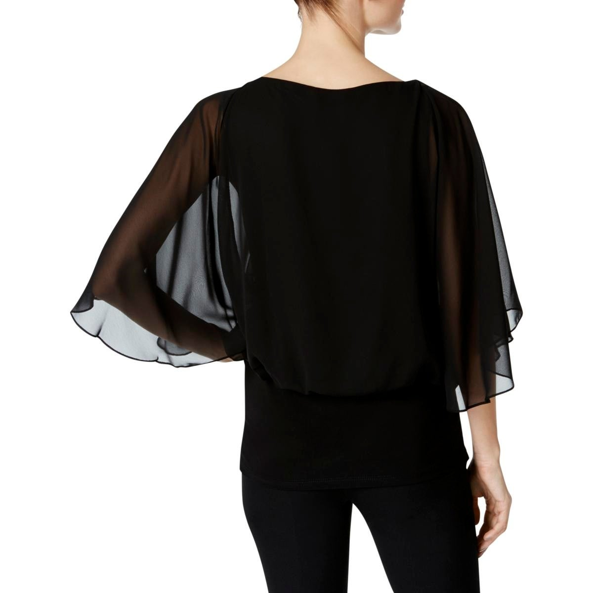 234670a43e597b Shop MSK Womens Pullover Top Sheer Banded - Free Shipping On Orders Over  $45 - Overstock - 22832876