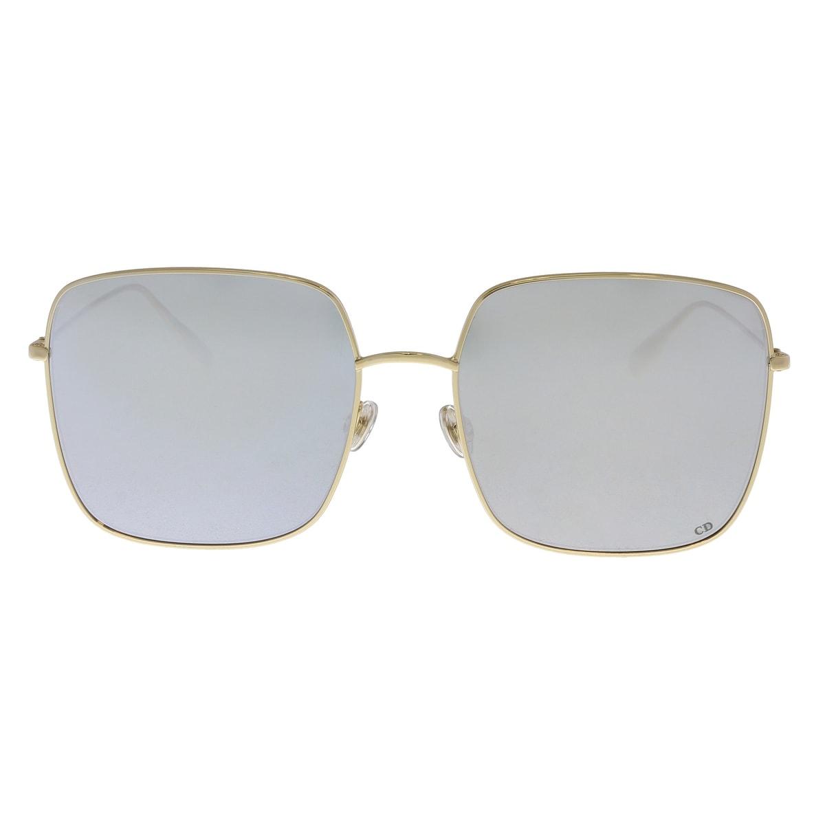 439b9d28e4 Shop Christian Dior DIORSTELLAIRE1 83I Gold Silver Square Sunglasses -  59-18-145 - Ships To Canada - Overstock.ca - 22302020