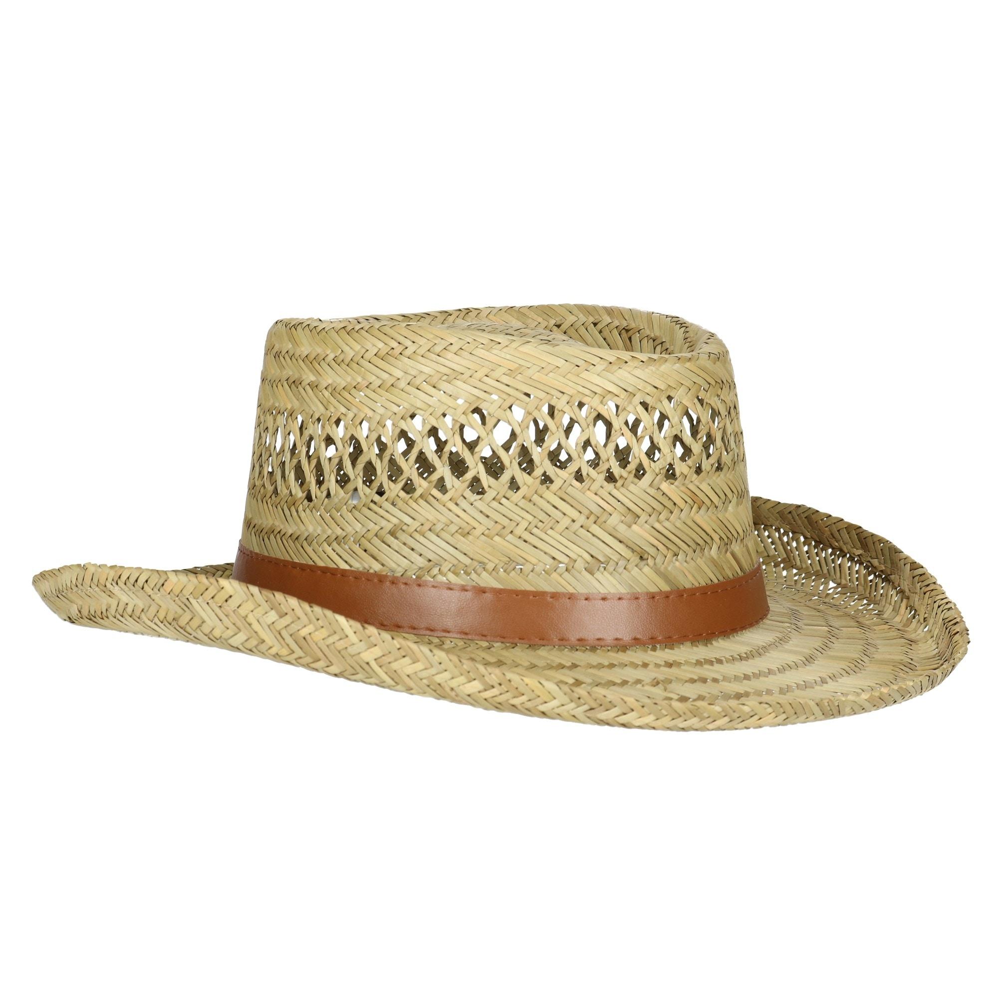 d45707a17 Dorfman Pacific Rush Straw Lightweight Gambler Hat with Wide Brim