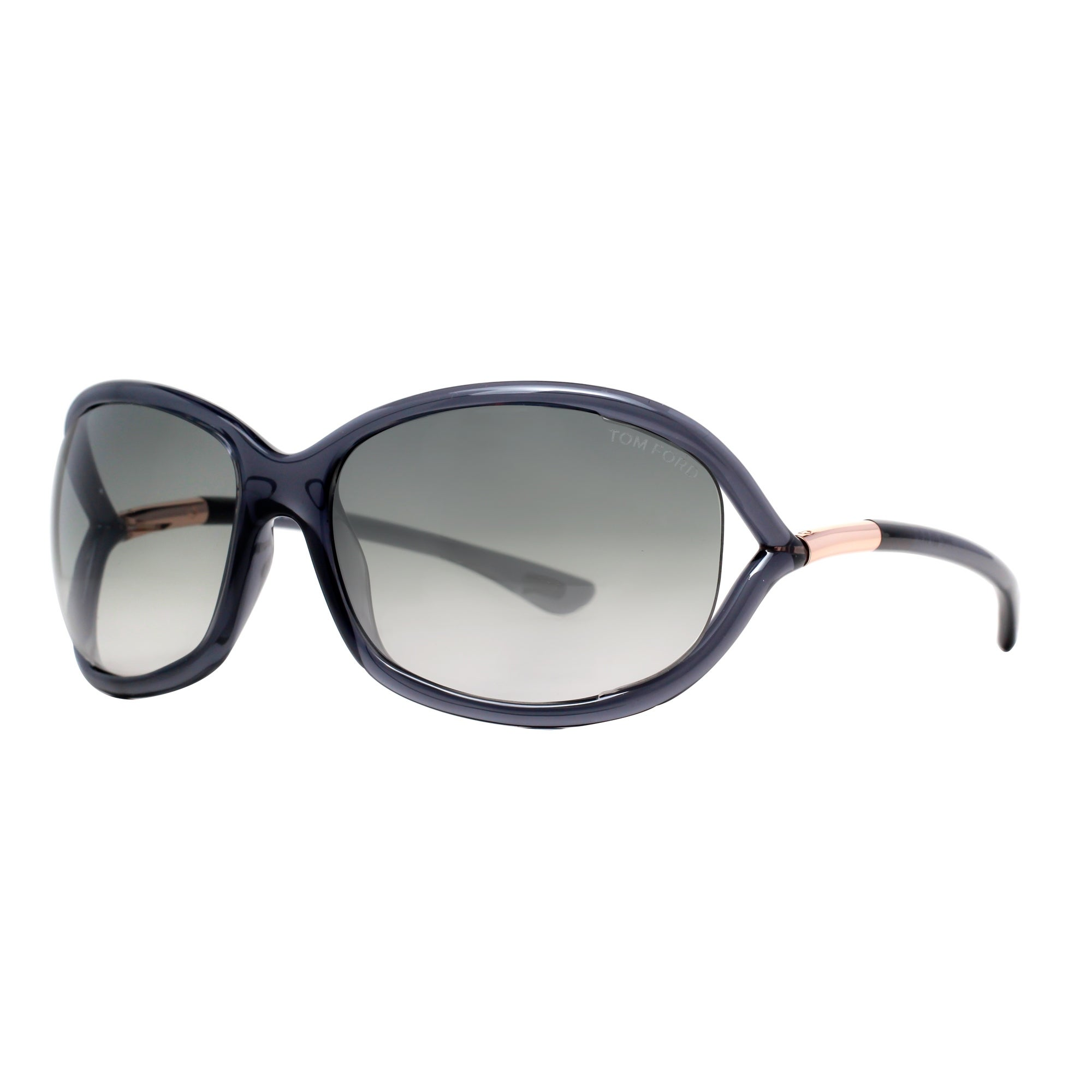 61f8dc3404b Tom Ford Jennifer TF 8 0B5 Transparent Dark Grey Women s Soft Square  Sunglasses - clear gray - 61mm-16mm-120mm