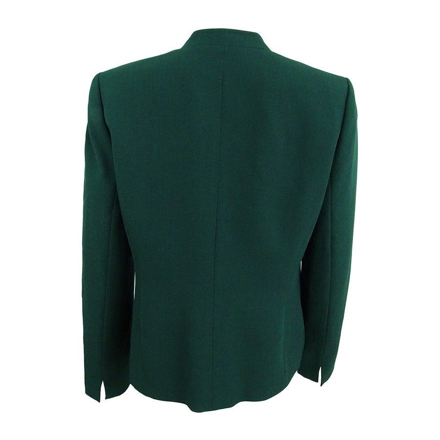7acde46f0c8 Shop Kasper Women s Petite Stretch Crepe One-Button Blazer (8P