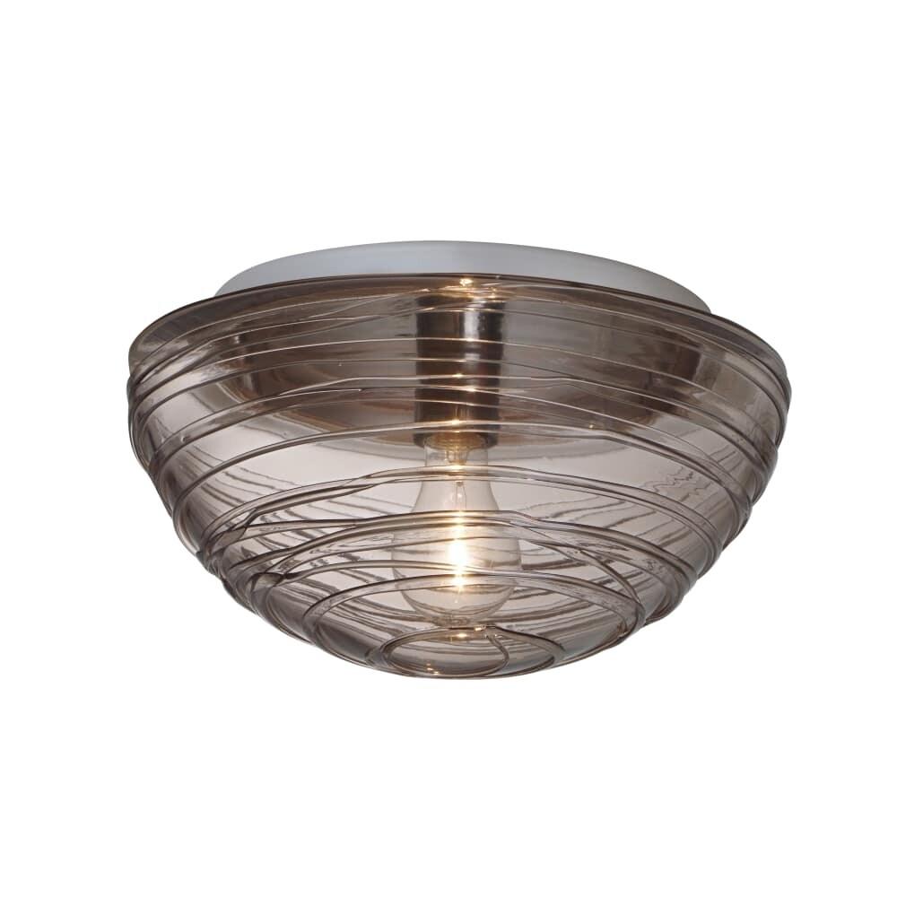 Shop Besa Lighting 906202C Wave 1-Light Flush Mount Ceiling Fixture ...