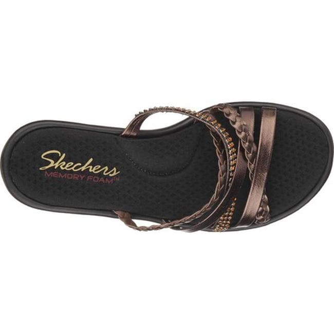 813fa0e9d01d Shop Skechers Women s Rumblers Wild Child Wedge Slide Bronze - On Sale -  Free Shipping Today - Overstock - 10890387