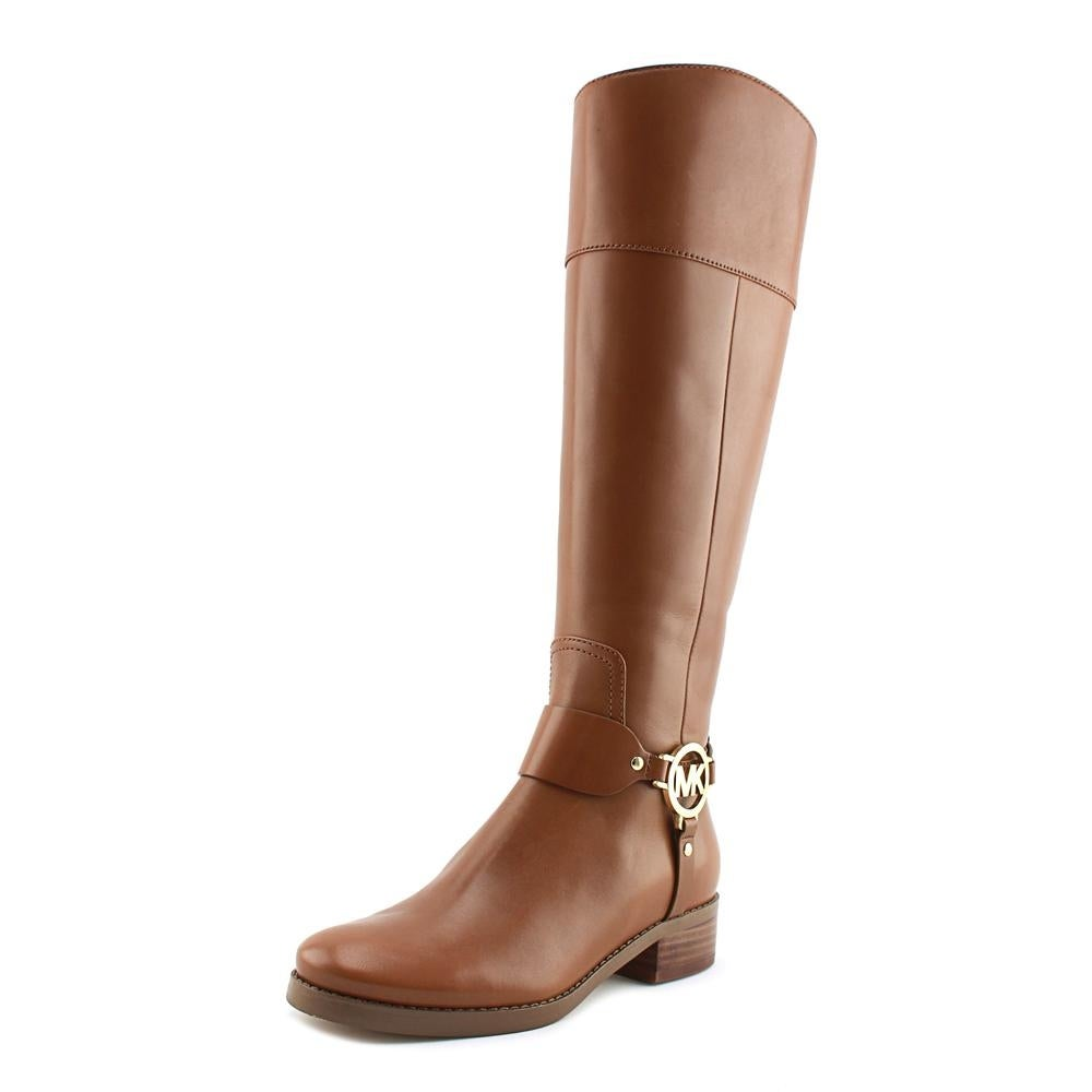 a1f7bbf70 Shop Michael Michael Kors Fulton Harness Boot Wide Calf Women Brown - Ships  To Canada - Overstock - 18753866