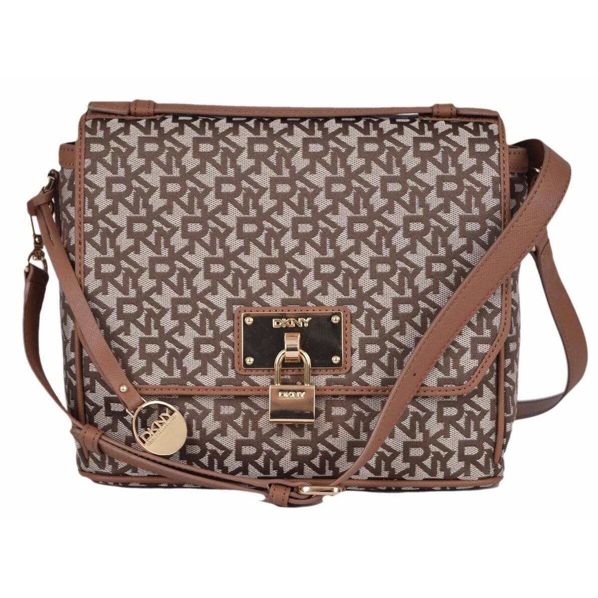 2ac25bacda9f Shop DKNY Donna Karan Chino Logo Heritage Lock Crossbody Top Handle Purse  Handbag - On Sale - Free Shipping Today - Overstock - 12171520