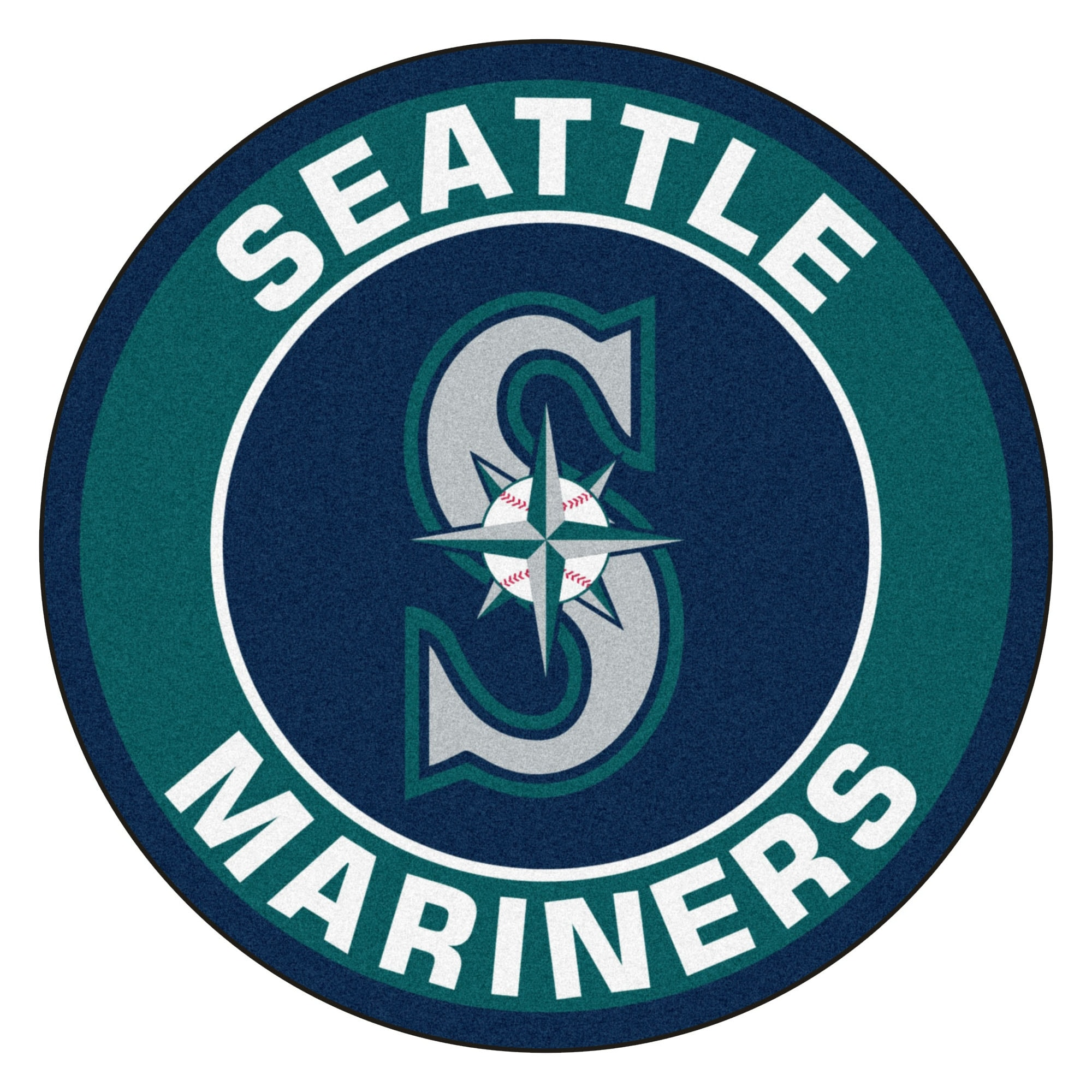 Shop Mlb Seattle Mariners Rounded Non Skid Mat Area Rug Free