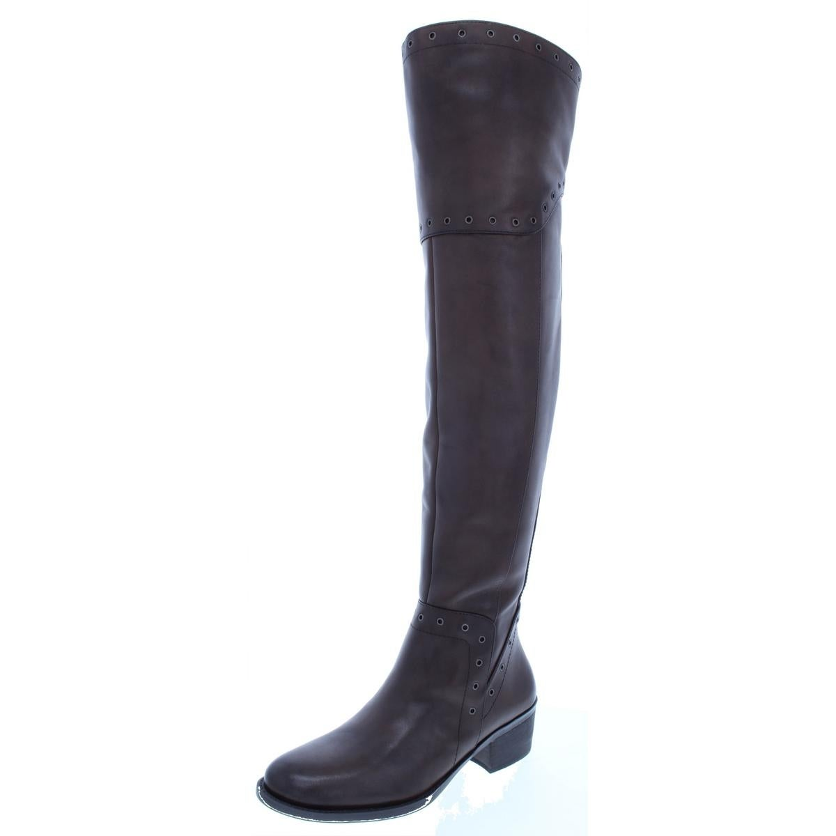 8f62bda977a4 Shop Vince Camuto Womens Bestan Over-The-Knee Boots Leather Almond Toe -  Free Shipping Today - Overstock.com - 23566953