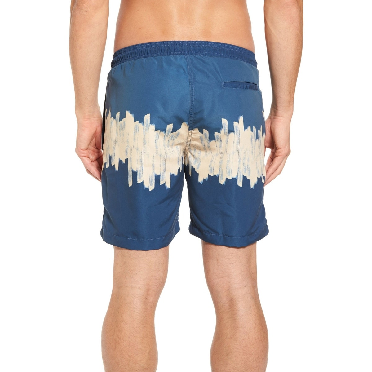 0f3037691c17a Shop Vestige Men's 3 Block Swim Trunks X-Large XL Tan and Blue Swimsuit -  Free Shipping Today - Overstock - 26266921