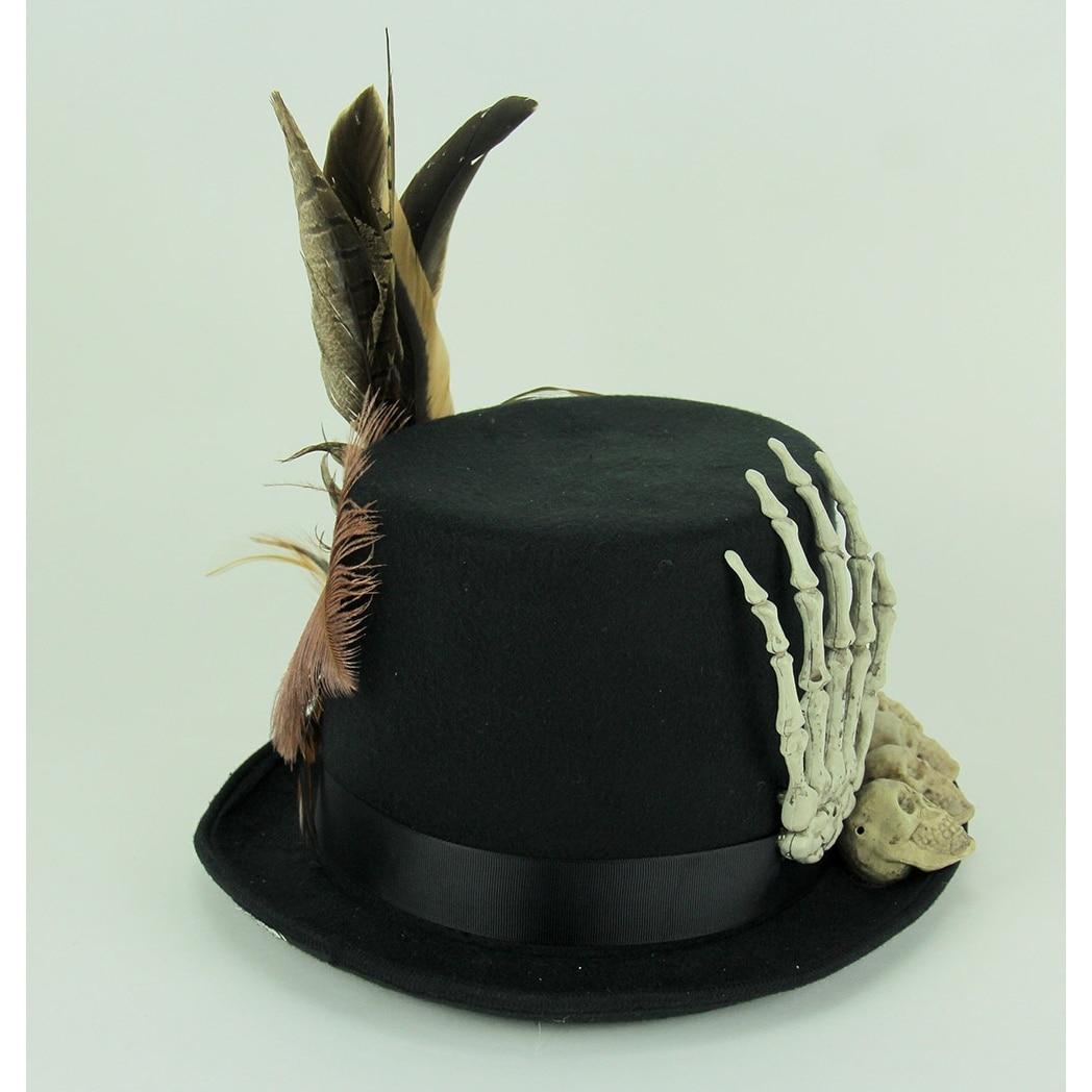 Papa Legba Voodoo Priest Bone Covered Costume Top Hat