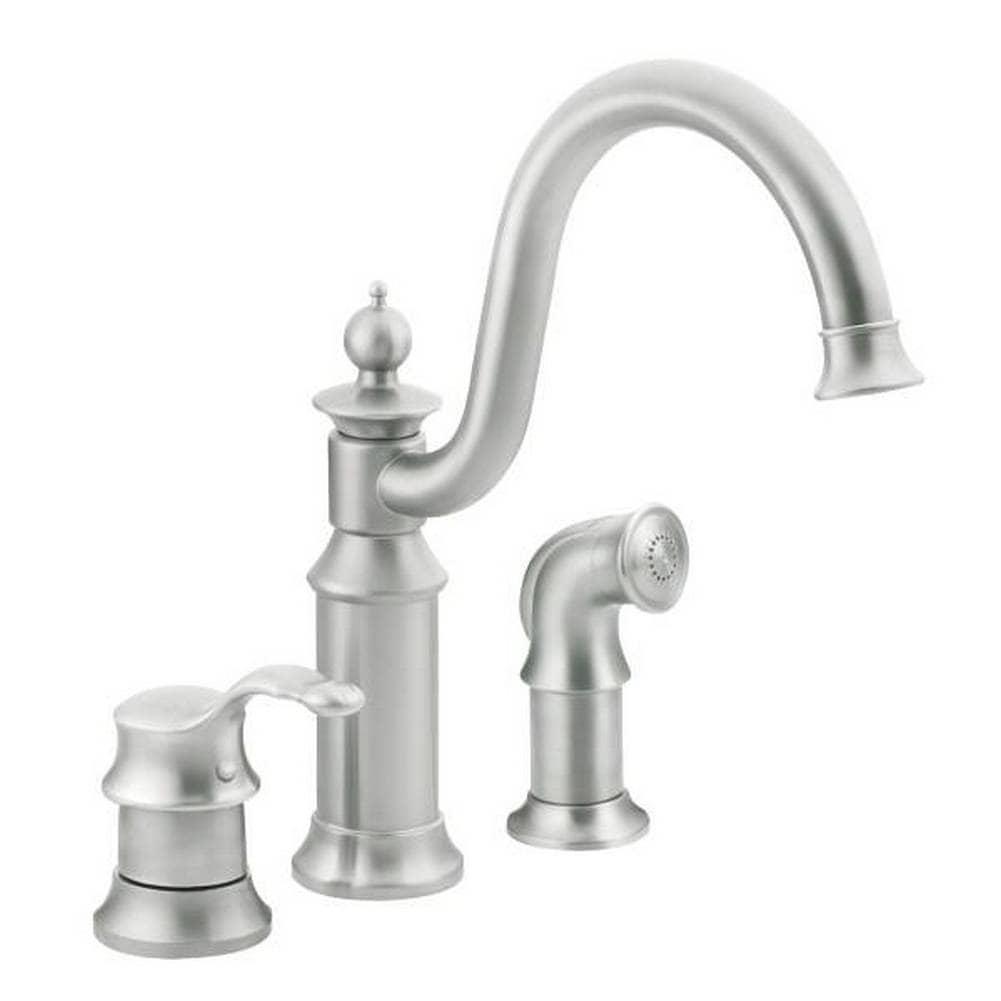 Shop Moen S711CSL Waterhill One Handle High Arc Kitchen Faucet ...