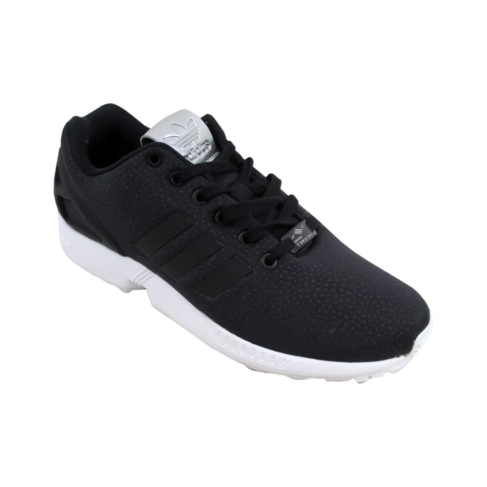 80c58dc56 Shop Adidas ZX Flux W Black Black-Silver Metallic BY9215 Women s - Free  Shipping Today - Overstock - 27339453