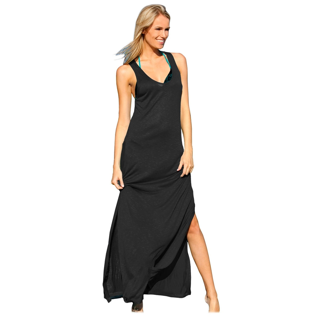 05817e3ed5 Shop Ingear Racerback Maxi Dress Swimsuit Cover Up - Free Shipping On  Orders Over $45 - Overstock.com - 15360460