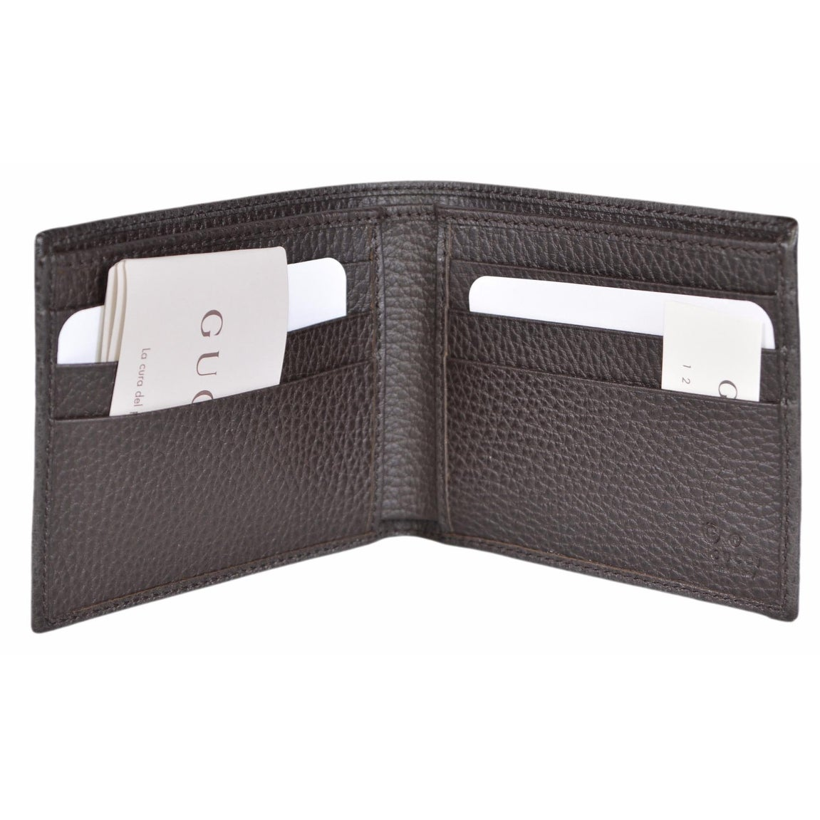 085937a7eb0 Shop Gucci Men s 260987 Beige Canvas GG Guccissima Bifold Wallet - ebony  beige - Free Shipping Today - Overstock - 15999256