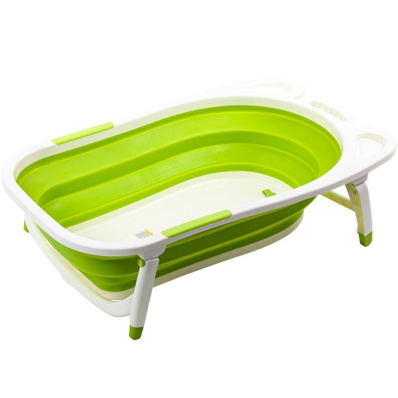 Gymax Green Baby Folding Bathtub Infant Collapsible Portable Shower ...
