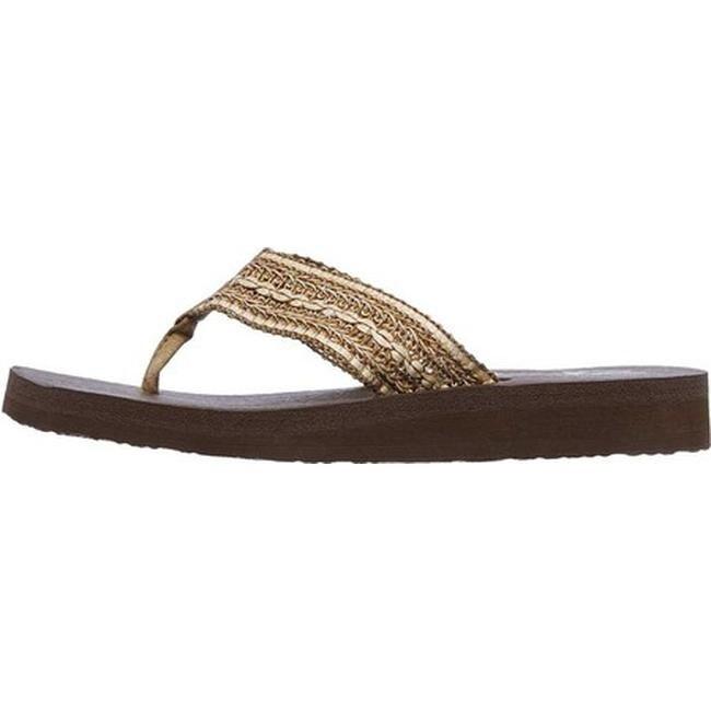 4af9a160ffae Shop Skechers Women s Meditation Zen Summer Thong Sandal Tan - Free  Shipping On Orders Over  45 - Overstock - 19427138