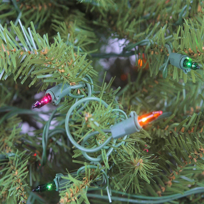 Shop 4\' Pre-Lit Northern Pine Full Artificial Christmas Tree - Multi ...