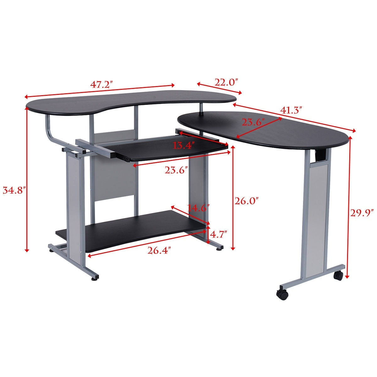 desk c corner series shape l mocha computer in furniture piece cherry bbf a expandable best bush