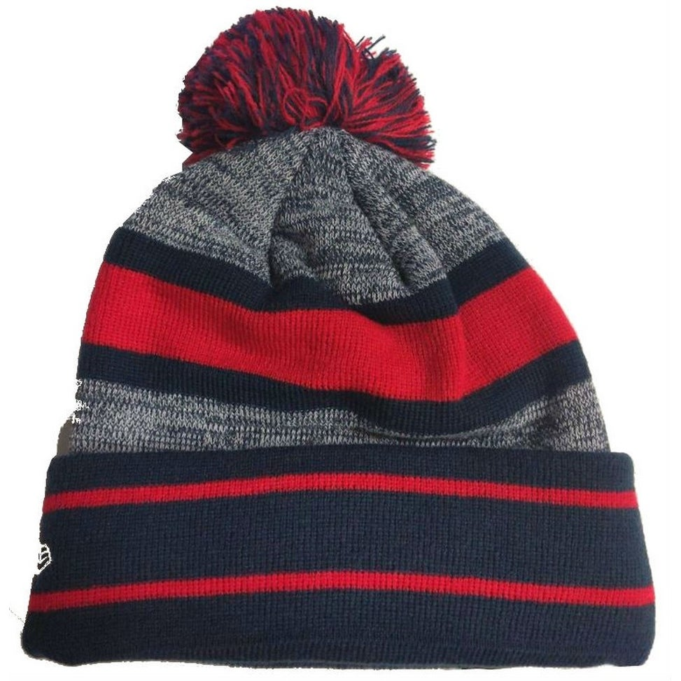 5c326ff5b94 Shop New Era 2019 NFL New England Patriots Cuff Pom Knit Hat Beanie  Stocking Winter - Free Shipping On Orders Over  45 - Overstock - 27994369