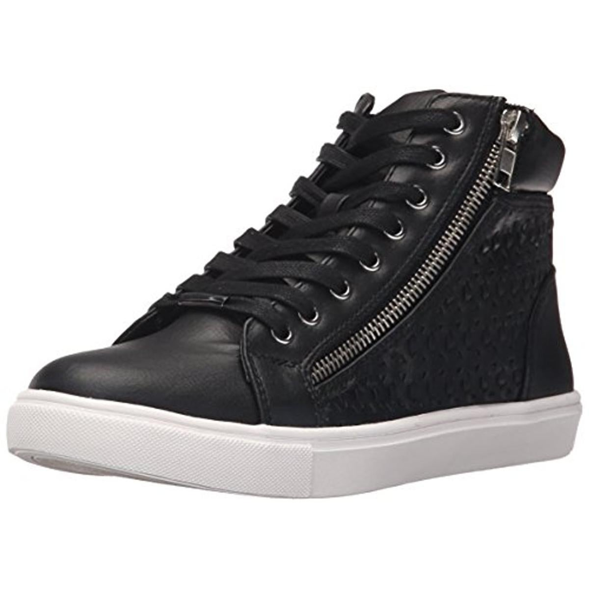 4d91400e889 Steve Madden Womens Eiris Fashion Sneakers Faux Leather Lace-Up