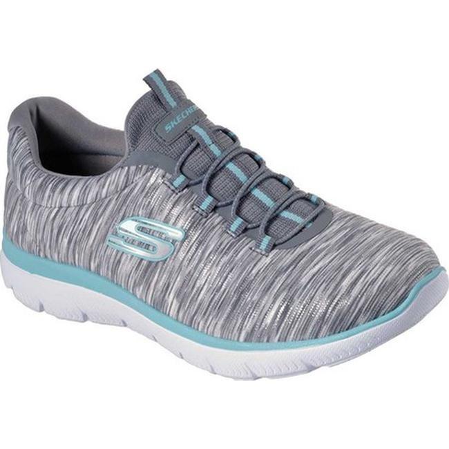 48241238be19 Shop Skechers Women s Summits Light Dreaming Sneaker Gray Light Blue ...