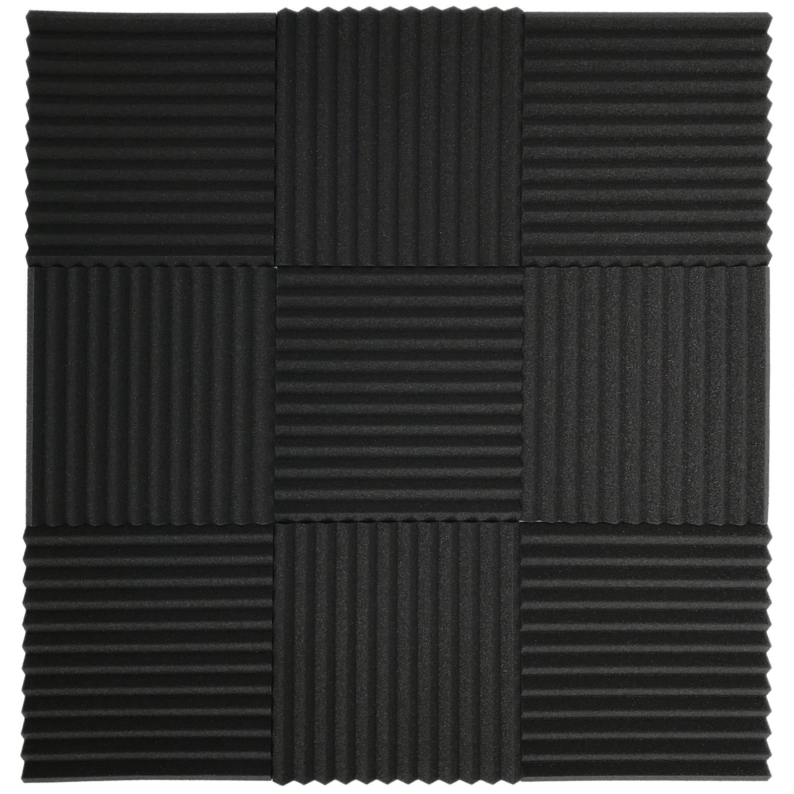 24 Pack Acoustic Foam Panel Wedge Studio Soundproofing Wall Tiles 12x12x1 Charcoal Free Shipping Today 23388434