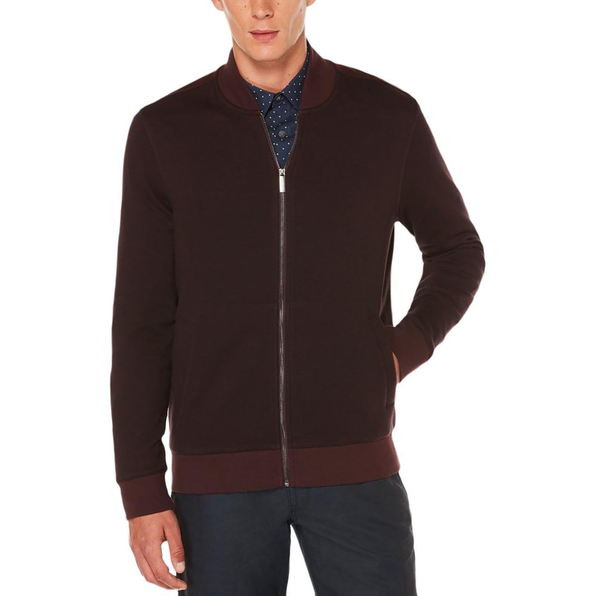 a9cdc8fa30 Shop Perry Ellis Mens Full Zip Sweater Herringbone Signature - Free ...